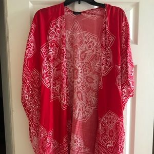 Red kimono from Rue 21. Never worn.